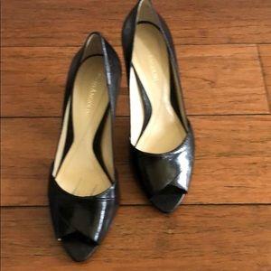 Enzo Angiolini Alexcia black leather heels